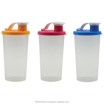 Felton Plastic Water Tumbler Shaker with cover