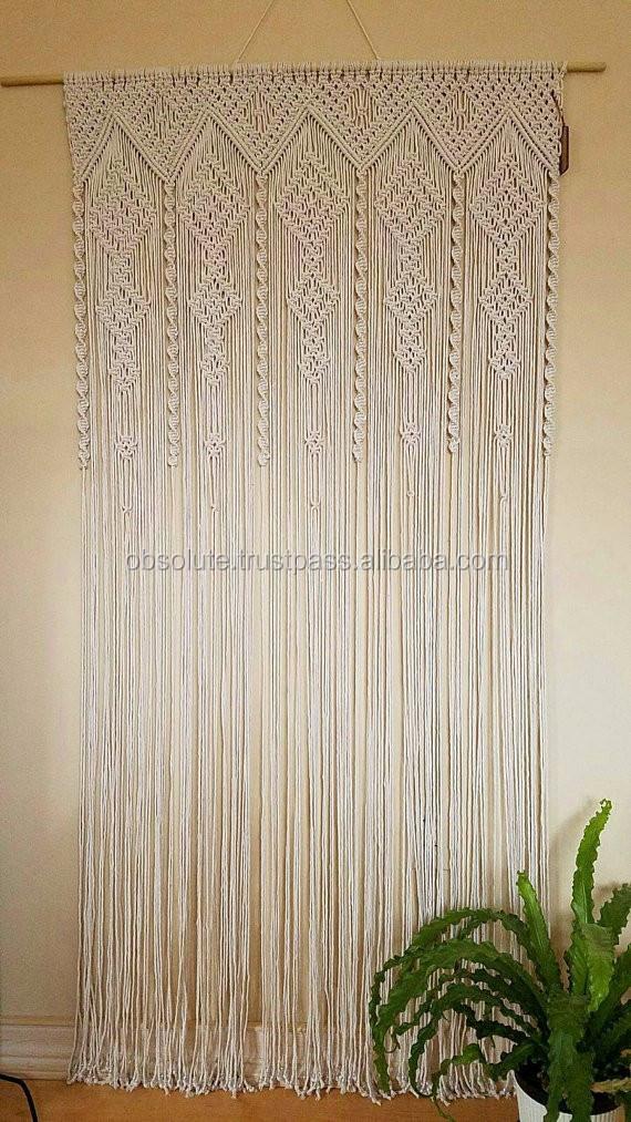 Macrame Curtains Part - 18: Large Macrame Curtain Wedding Curtains