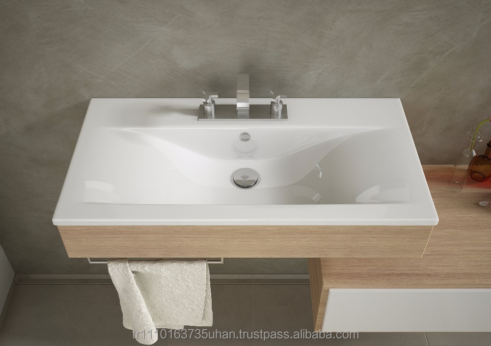FAMA-SLIM SERIES / High Quality Ceramic Furniture Washbasin, Cabinet Basin, Cabinet Sink - 4085