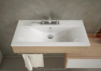Wastafel Met Kast : Fama slanke serie hoge kwaliteit keramische wastafel meubels kast
