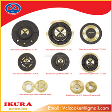 BRASS BURNER CAP COMPONENTS GAS STOVE ISO:9001-2008