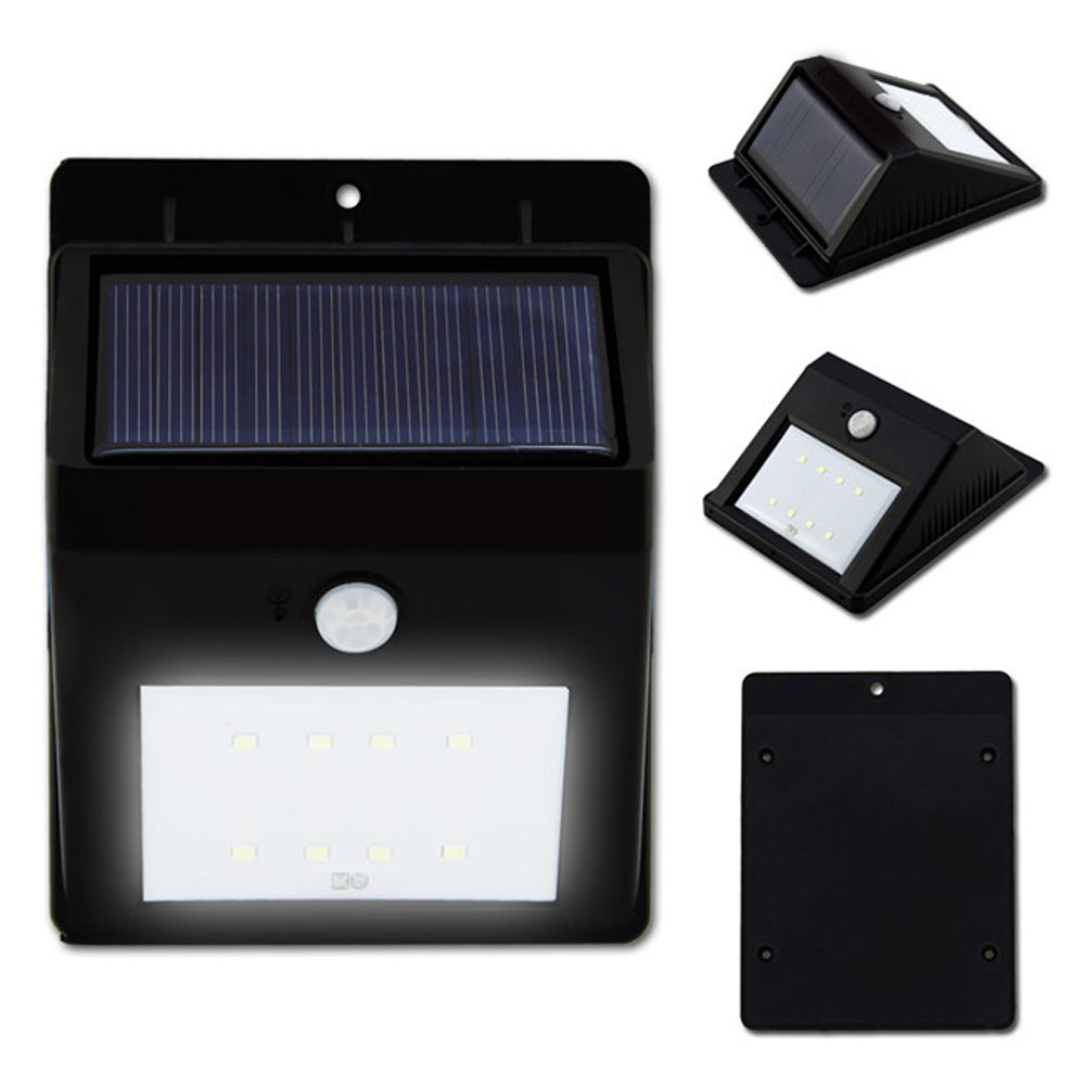 Singapore, 8LED,1.6W,160Lm,Smart Solar LED Wall Light integrated with photocell and motion sensor,Human Sensor Solar Wall Pack