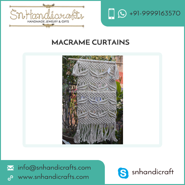 Large Knotted Macrame Curtain/Wall Hanging for Decorations