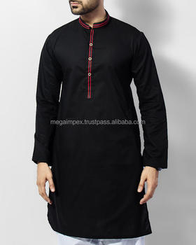 fd0b99b3d2 Mens Black Shalwar Kameez With Embroidery On Shoulders And Collar ...