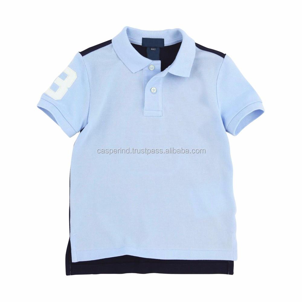 Logo Customized Slim Fit No Button Polo Shirt Wholesale Men S