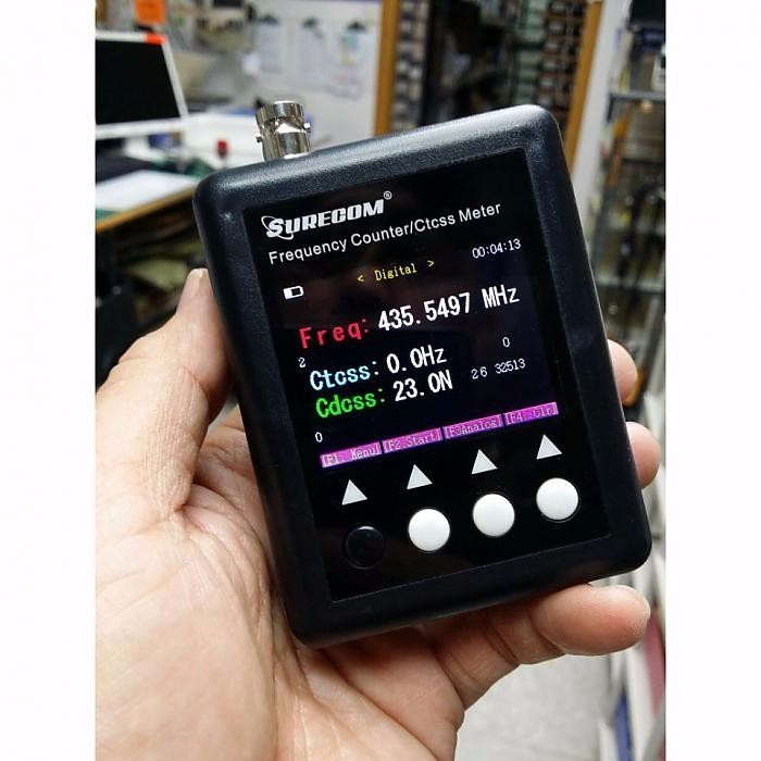 New Version Portable SURECOM SF401plus 100MHz ~ 3Ghz radio frequency meter