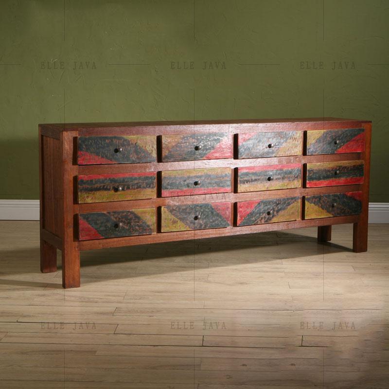 Madera de teca antigua pintada gabinete muebles para la - Muebles de madera de teca ...