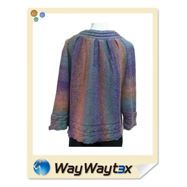 China Manufacturing Acrylic Wool Fabric 5gg Knit Woman Cardigan ...