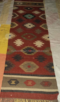 Hot Ing Machine Washable Natural Designer European Style Hand Made Kilim Design Jute Wool Aubusson