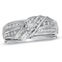 High Rated 1/5 CT 10K white gold Diamond ruby peridot jewelry pave diamonds mens black wedding rings anniversary ring