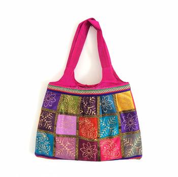 Indian Traditional Printed Handbag Vintage Boho Hippie Style Shoulder Bag Whole