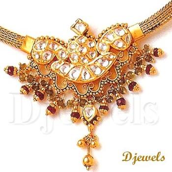 Designer 22k Gold Kundan Necklace Set Jewelry Buy Designer 22k