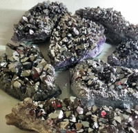 Old Silver Coated Amethyst Cluster, Coated Amethyst Druzy, Old Silver Coated Amethyst Quartz Crystal Cluster For Home Decoration