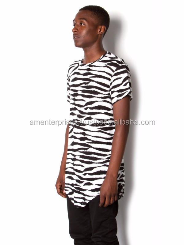 2017 Men Long Line T Shirt/ Elongated T Shirt Wholesale/oversize ...