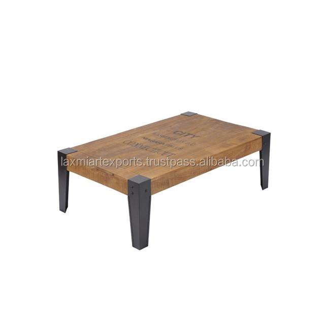 Industrial Folding Coffee Table End Table Design Iron Metal Leg