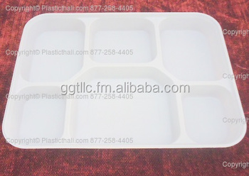 6 Compartment Heavy Duty Plastic Plate
