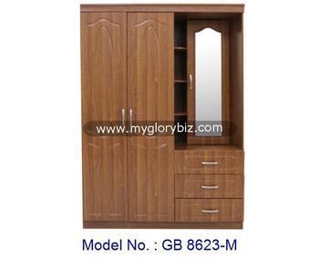 Elegant MDF Furniture, Mirrored Wardrobe Closet, Wooden Almirah Designs