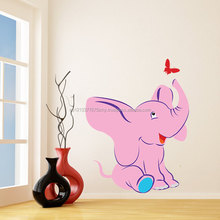 Nursery Vinyl Wand Kinder Aufkleber Elefant mit Schmetterling Art Home Baby Tier Decor Aufkleber/Kind Kinderzimmer Dekoration