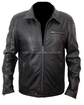 New European Style Genuine Soft Leather Jacket Men All Season Leather Jacket
