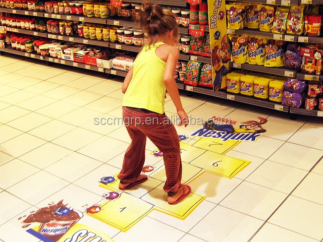 Customized Anti Slip Decorative Removable Floor Stickers/3d Floor Sticker  Vinyl Decals For Shop