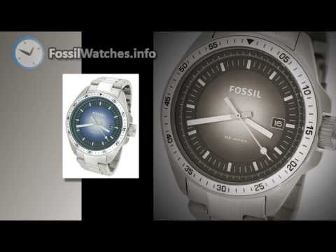 Fossil Watches - Fossil Men's AM4369 Stainless Steel Analog with Blue Dial Watch