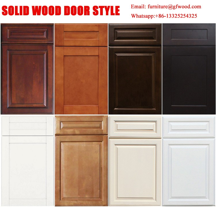2017 Hot Sale Self Assemble Birch Solid Wood Kitchen
