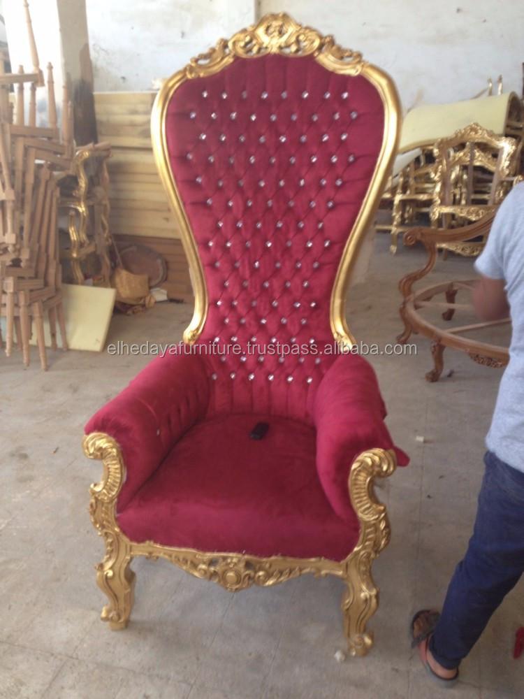 Franse barok koning troon stoel hoge rug houten stoelen product id 50014904993 - Stoel dineren baroque ...