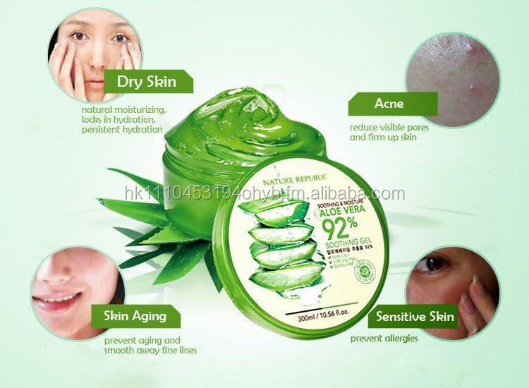 Nature Republic aloe vera 92% soothing gel, LG Cosmetics Product of Korea