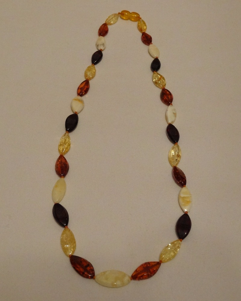 Baltic amber teething necklace green From Ukraine 100% raw