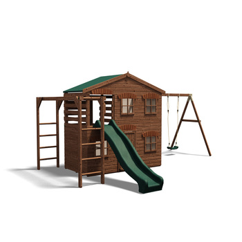 Dunster House - Playhouse Mansion - Pressure Treated Wooden Climbing ...