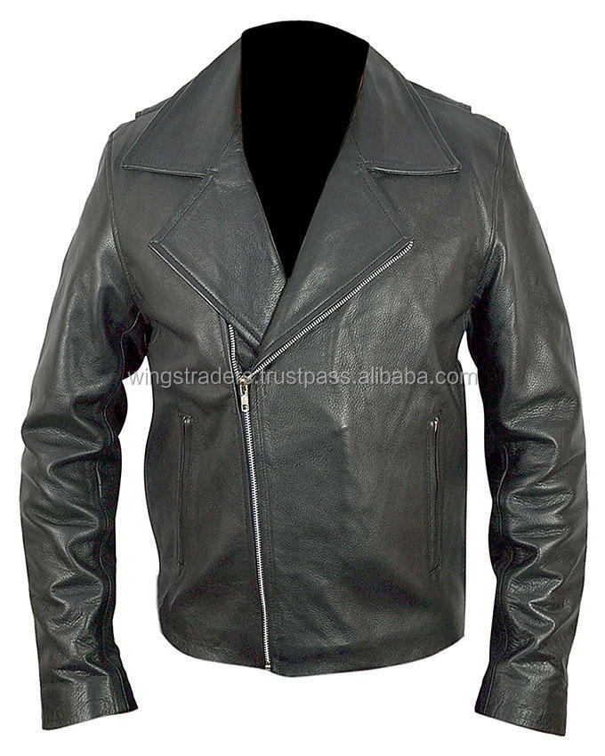 Ghost Rider Black Genuine Leather Jacket