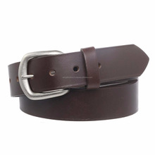 Men's Full Grain Leather Stretch Belt with Nickel Buckle