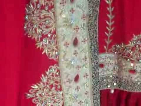 Red Bridal Gharara - Hyderabadi wedding dresses - Muslim Bridal Garara in red color