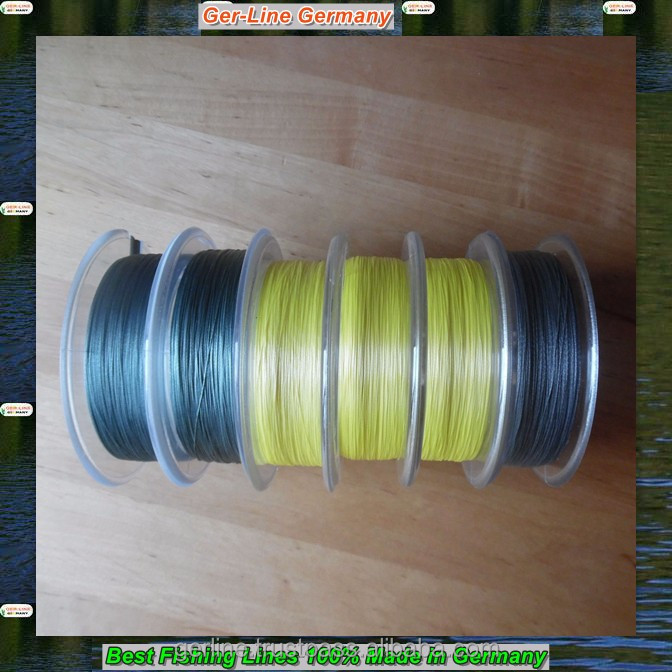 GER-LINE 200M 0.08-0.30mm 16-78.7lbs PE 8 strand braided fishing line 100% made in Germany smooth strong round