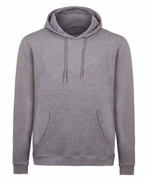 Custom Wholesale Blank Pullover Gray Hoodies Men / Cheap Cotton Fleece Hoodies For Mens