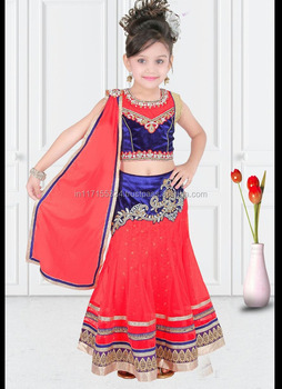 Designer Kids Wear | Designer Kids Lehenga Choli Ethnic Wear Fair Kids Wear Red Colour