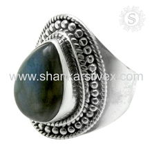 Labradorite Ring Heavy Design Handmade Silver Jewelry Wholesale Jewelry Indian Ring