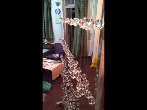 Crystal bubbles beaded string curtains