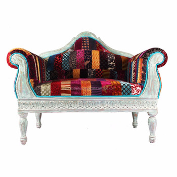 Royal Indian Patchwork Living Room Sofas Upholstery Furniture