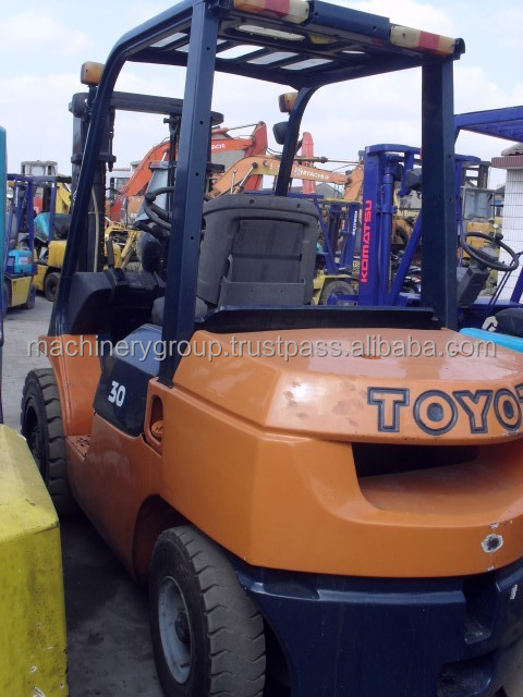 Used Toyota Forklift FD30,Original From Japan Used Toyota Forklift 3 ton