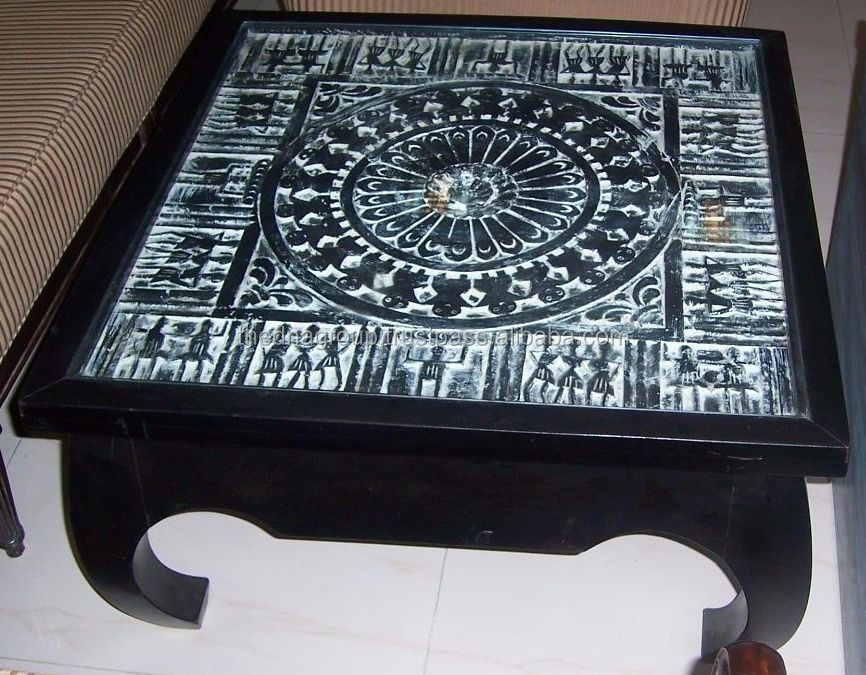 Home furniture wooden Coffee Table with carving
