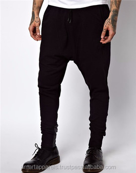 Running sports black casual cotton custom jogging pants