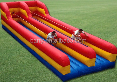 Popular sport game commercial bungee run,inflatable bungee run for sale