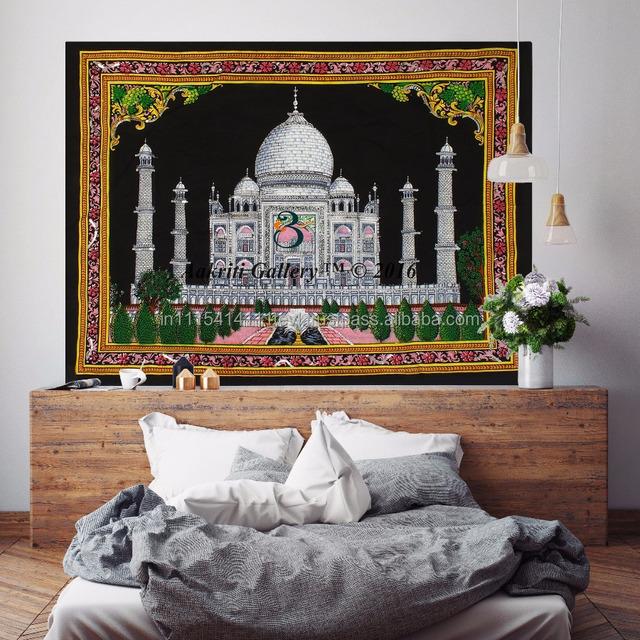 Indian Taj Mahal Wall Hanging Home Decor Tapestry Bohemian Wall Hanging  Design Tapestry