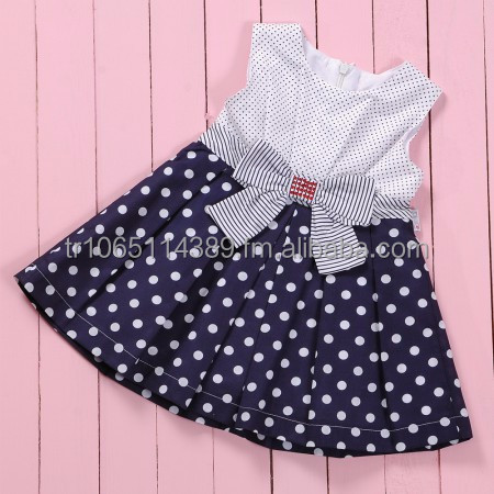 Baby Girl Dress With Spotty Design Pleated Skirt,Baby Dress Sets ...