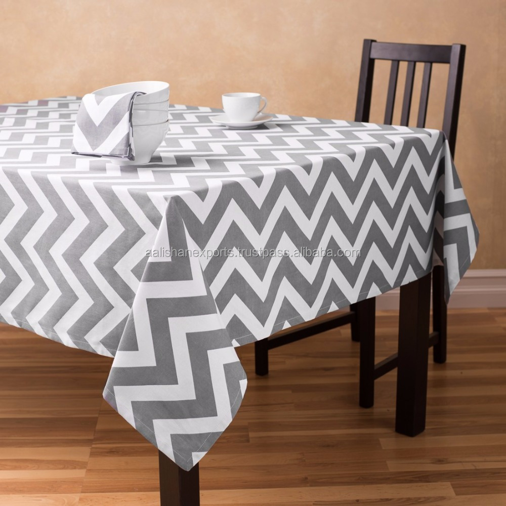 100% cotton printed and yarn dyed cheap tablecloths from India