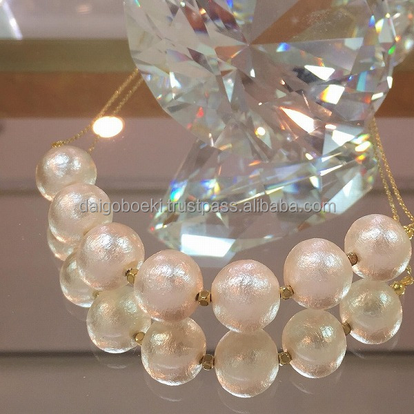 Hot-selling and Elegant fashion jewelry SHINKO Cotton pearl for Accesorries , many colors available