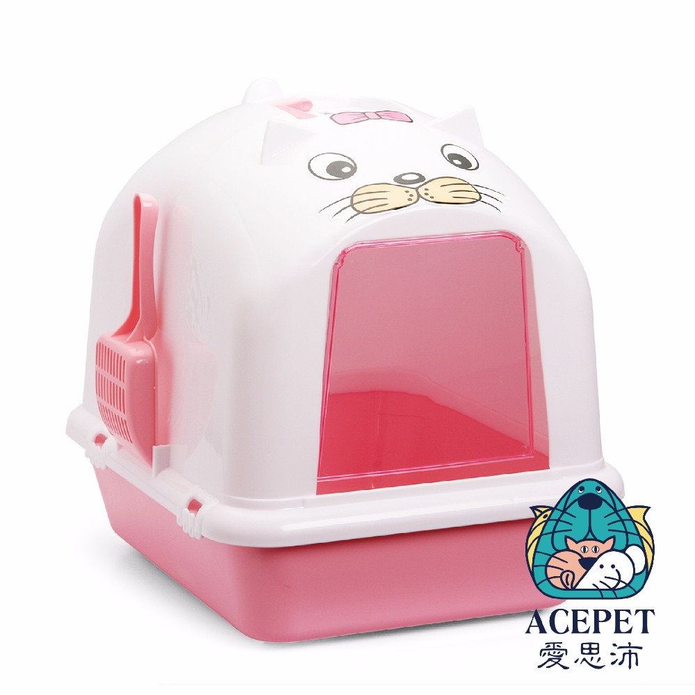 870-C Dome covered Cat Litter Box Cat Toilet with Scoop and Sifter