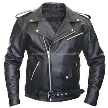 Vendeur Homme Brando Vintage Moto Classique Véritable Cuir