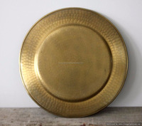 brass plated hammered charger plate